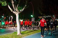 ESTEPONA - 04-01-2016, AZ in Spanje 4 januari, half 8 hardlopen.