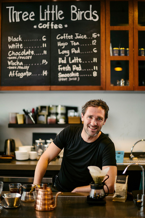 Michael Wilson, owner of Three Little Birds Cafe and The Artisan Cafe.