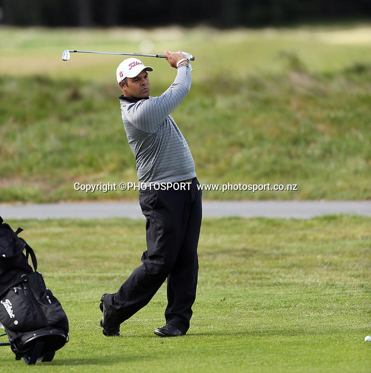 Jared Pender. The Charles Tour - John Jones Steel 2012 Harewood Open. Harewood Golf Course, Christchurch, Friday 19 October 2012. Photo : Joseph Johnson/photosport.co.nz
