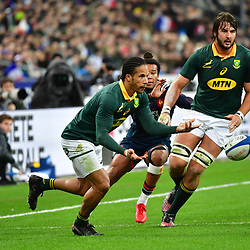 Courtnall Skosan of South Africa during the test match between France and South Africa at Stade de France on November 18, 2017 in Paris, France. (Photo by Dave Winter/Icon Sport)