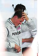 Grand prix de Bahraïn 2010..Circuit de shakir. 12 mars 2010..Premiere séance d'essai...Photo Stéphane Mantey/ L'Equipe. *** Local Caption *** schumacher (michael) - (ger) -