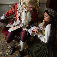 "On the set of Atlantis-Film  ""The secret of Casanova"" Produced  byZDF Director: Eike Schmitz  Casanova: Adrian Becker. Costumes, Settings and Historic Research: Atelier Pietro Longhi<br />