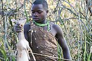 Africa, Tanzania, Lake Eyasi, Hadza hunters AKA Hadzabe Tribe