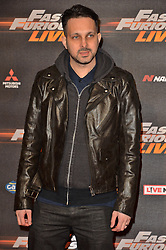 © Licensed to London News Pictures. 19/01/2018. London, UK. DYNAMO attends the world premiere of Fast & Furious live show at the O2. Cars will perform stunts and scenes capturing the spirit of the film series. Photo credit: London News Pictures
