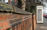 25 January 2017: KCOM cream telephone boxes that are unique to Hull, East Yorkshire. Seven of them have listed status including this one in Holderness Road.<br /> Picture: Sean Spencer/Hull News & Pictures Ltd<br /> 01482 210267/07976 433960<br /> www.hullnews.co.uk         sean@hullnews.co.uk