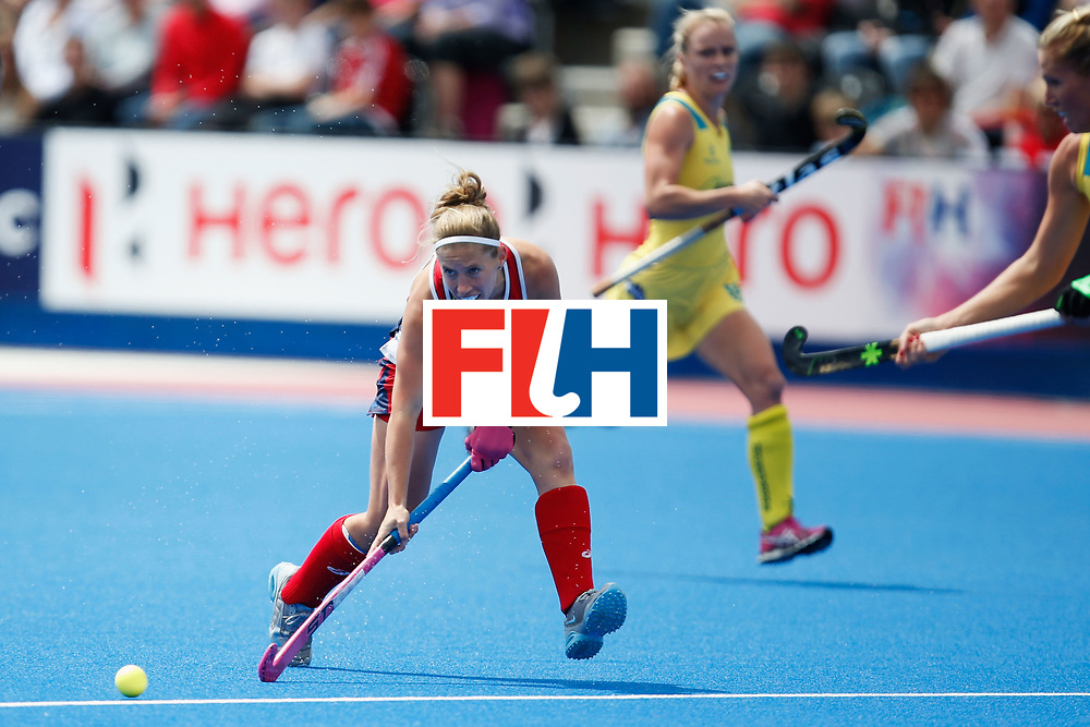 LONDON, ENGLAND - JUNE 18:  Michelle Kasold of the USA during the FIH Women's Hockey Champions Trophy 2016 match between United States and Australia at Queen Elizabeth Olympic Park on June 18, 2016 in London, England.  (Photo by Joel Ford/Getty Images)