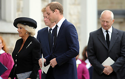 © Licensed to London News Pictures. 11/09/2013 The funeral for Hugh Van Cutsem at Brentwood Cathedral in Essex today. The Prince of Wales, The Duke of Cambridge and Prince Harry attended today 11th September 2013