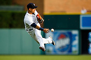 Jul 1, 2015; Detroit, MI, USA; Detroit Tigers shortstop Jose Iglesias (1) makes a throw at Comerica Park. Mandatory Credit: Rick Osentoski-USA TODAY Sports