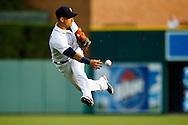 Jul 1, 2015; Detroit, MI, USA; Detroit Tigers shortstop Jose Iglesias (1) makes a throw at Comerica Park. Mandatory Credit: Rick Osentoski-USA TODAY Sports