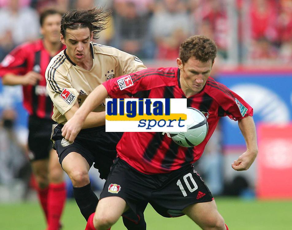 Fotball<br /> Foto: Witters/Digitalsport<br /> NORWAY ONLY<br /> <br /> Bundesliga 2004/2005<br /> v.l  Owen HARGREAVES - Paul FREIER Leverkusen<br /> Bundesliga Bayer 04 Leverkusen - FC Bayern M&uuml;nchen 4:1