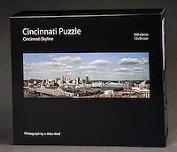 A fun puzzle featuring Cincinnati's skyline with the new Great American Tower. 500 pieces, 12x36 size. $21.95