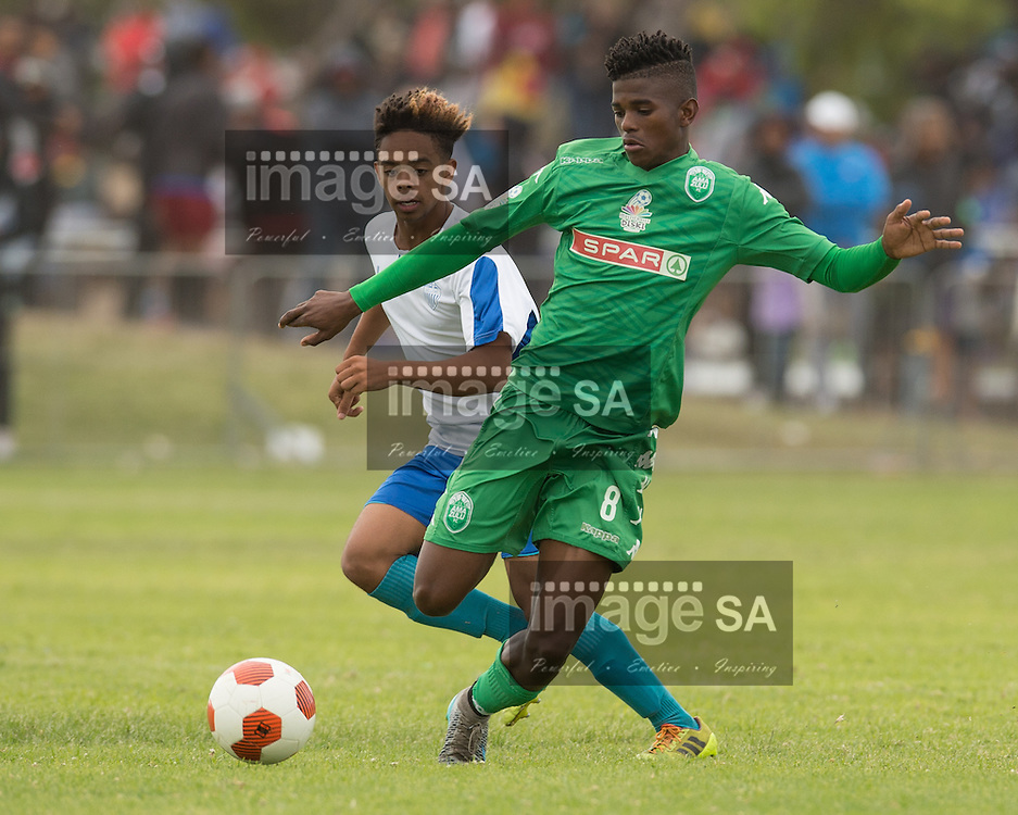 CAPE TOWN, SOUTH AFRICA - Saturday 26 March 2016, Luyanda Gumede of Amazulu during the match between Hellenic and Amazulu during the fourth day of the Metropolitan U19 Premier Cup at Erica Park in Belhar. <br /> Photo by Roger Sedres/ImageSA