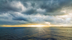 Deep Morning Skies As The Sun Peeks Out in port on Hilo, Hawaii