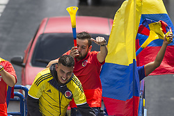 July 5, 2018 - Fans welcoming the Colombia team in the city of Bogotà (Credit Image: © Daniel AndréS GarzóN Heraz via ZUMA Wire)