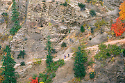 Hikers on the Hidden Canyon Trail, Zion National Park, Utah USA