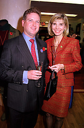 MR & MRS WILLIAM ASPREY members of the Asprey fine goods family, at a party in London on 8th November 2000.OIW 25