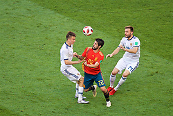 MOSCOW, RUSSIA - Sunday, July 1, 2018: Spain's Francisco Román Alarcón Suárez 'Isco' during the FIFA World Cup Russia 2018 Round of 16 match between Spain and Russia at the Luzhniki Stadium. (Pic by David Rawcliffe/Propaganda)
