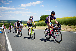 Manon Lloyd (GBR) takes a drink on Hankaberg at Lotto Thüringen Ladies Tour 2019 - Stage 3, a 97.8 km road race in Dörtendorf, Germany on May 30, 2019. Photo by Sean Robinson/velofocus.com
