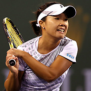 March 11, 2016, Palm Springs, CA:<br /> Kurumi Nara in action during a match against Venus Williams during the 2016 BNP Paribas Open at the Indian Wells Tennis Garden in Indian Wells, California Friday, March 11, 2016. <br /> (Photos by Billie Weiss/BNP Paribas Open)