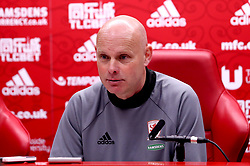 Middlesbrough manager Steve Agnew in his post match press conference after his side beat Sunderland - Mandatory by-line: Robbie Stephenson/JMP - 26/04/2017 - FOOTBALL - Riverside Stadium - Middlesbrough, England - Middlesbrough v Sunderland - Premier League