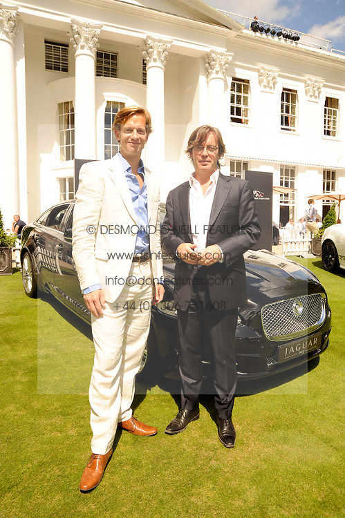 Left to right, ANDREW BAGLEY and DAVID BAGLEY founders & organisers of the Salon Prive at the Salon Prive - the 5th Luxury Super Car Event and Concours D'Elegance held at The Hurlingham Club, London SW6 on 21st July 2010.