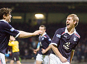 Dundee's Neil McGregor celebrates his goal - Dundee v Livingston, IRN BRU Scottish Football League, First Division at Dens Park - ..© David Young - .5 Foundry Place - .Monifieth - .Angus - .DD5 4BB - .Tel: 07765 252616 - .email: davidyoungphoto@gmail.com.web: www.davidyoungphoto.co.uk