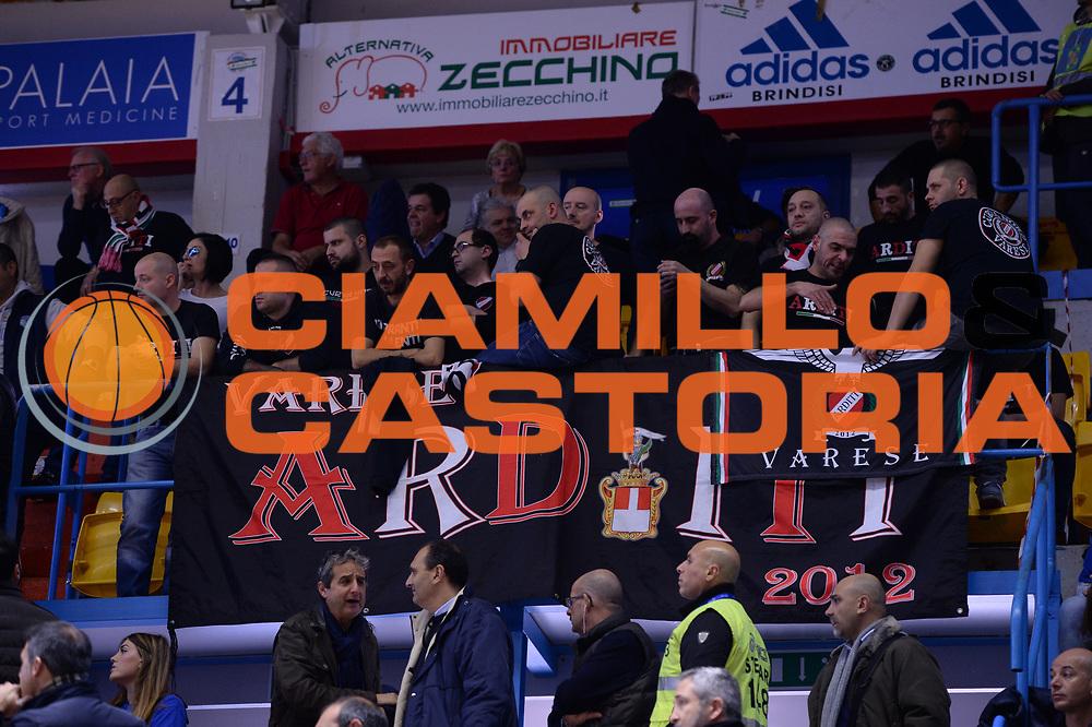 DESCRIZIONE : Brindisi  Lega A 2015-16<br /> Enel Brindisi Openjobmetis Varese<br /> GIOCATORE : Ultras Tifosi Spettatori Pubblico Openjobmetis Varese<br /> CATEGORIA : Ultras Tifosi Spettatori Pubblico<br /> SQUADRA : Openjobmetis Varese<br /> EVENTO : Campionato Lega A 2015-2016<br /> GARA :Enel Brindisi Openjobmetis Varese<br /> DATA : 29/11/2015<br /> SPORT : Pallacanestro<br /> AUTORE : Agenzia Ciamillo-Castoria/M.Longo<br /> Galleria : Lega Basket A 2015-2016<br /> Fotonotizia : Brindisi  Lega A 2015-16 Enel Brindisi Openjobmetis Varese<br /> Predefinita :