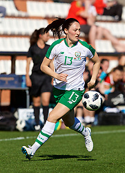 MARBELLA, SPAIN - Thursday, February 28, 2019: Republic of Ireland's Megan Campbell during an international friendly match between Wales and Republic of Ireland at the Marbella Football Centre. (Pic by David Rawcliffe/Propaganda)