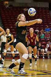 31 Aug 2010: Natalie Fiore.  The Illinois State Redbirds trumped the Rambles of Loyola-Chicago 3 sets to none at Redbird Arena on the campus of Illinois State University in Normal Illinois.