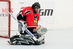 Gasper Kroselj of HK Prevoje at semifinal match of IZS Masters 2011 inline hockey between HK Prevoje and DPH Itaksport.com Kranj, on June 4, 2011 in Sportni park, Horjul, Slovenia. (Photo by Matic Klansek Velej / Sportida)