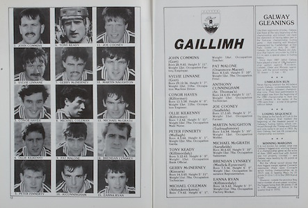 All Ireland Senior Hurling Championship Final, .04.09.1988. 09.04.1988, 4th September 1988,.4091988AISHCF,.Galway 1-15, Tipperary 0-14,.Galway v Tipperary, ..Galway, John Commins, Sylvie Linnane, Conor Hayes, Ollie Kilkenny, Peter Finnerty, Tony Keady, Gerry McInerney, MIchael Coleman, Pat Malone, Anthony Cunningham, Joe Cooney, Martin Naughton, Michael McGrath, Brendan Lynskey, Eanna Ryan, .