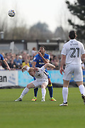 AFC Wimbledon midfielder Tom Soares (14) and during the EFL Sky Bet League 1 match between AFC Wimbledon and Northampton Town at the Cherry Red Records Stadium, Kingston, England on 11 March 2017. Photo by Stuart Butcher.