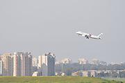 Israel, Ben-Gurion international Airport Aegean passenger jet after takeoff