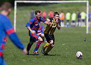 12/05/2018 - Ferry Mechanics (red and blue) v Stobswell (yellow and black) in the Dundee Saturday Morning Football League at Drumgeith, Dundee, Picture by David Young -