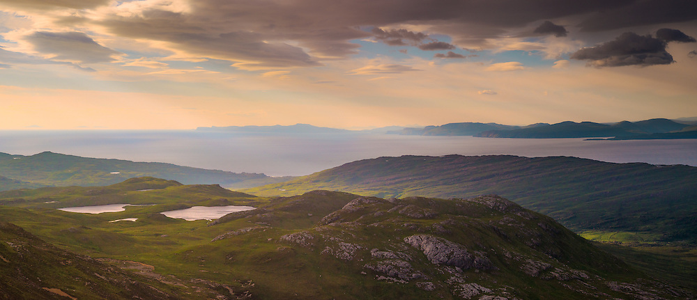 Looking over to the Skye Cuillin, Talisker and Neist point beyond from Barkeval.