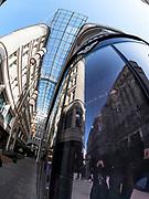 Vienna, Austria. Vienna seen through a fisheye lens. Golden Quarter.