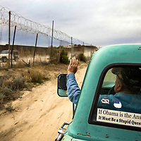 Bob Maupin, a rancher along the U.S. Mexico border in Campo, California, patrols his property for undocumented migrants on Barack Obama's inauguration day, January 20, 2009. Please contact Todd Bigelow directly with your licensing requests. PLEASE CONTACT TODD BIGELOW DIRECTLY WITH YOUR LICENSING REQUEST. THANK YOU!