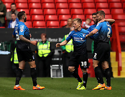 Bournemouth's Matt Ritchie celebrates his first half goal with his teammates - Photo mandatory by-line: Robbie Stephenson/JMP - Mobile: 07966 386802 - 02/05/2015 - SPORT - Football - Charlton - The Valley - Charlton v AFC Bournemouth - Sky Bet Championsip