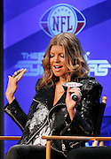 Female vocalist for The Black Eyed Peas, Stacy Ann Ferguson, better known as Fergie, speaks to the media at the Super Bowl XLV Halftime Show press conference featuring The Black Eyed Peas (held during the week of NFL Super Bowl XLV between the Pittsburgh Steelers and the Green Bay Packers) on Thursday, February 3, 2011 in Dallas, Texas. ©Paul Anthony Spinelli
