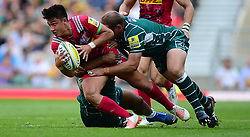 Marcus Smith of Harlequins is tackled. - Mandatory by-line: Alex James/JMP - 02/09/2017 - RUGBY - Twickenham Stadium - London, England - London Irish v Harlequins - Aviva Premiership