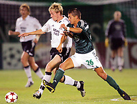Fotball, 14. september,  UEFA Champions League, Panathinaikos - Rosenborg, Jan Gunnar Solli, Rosenborg og  Skacel, Panathinaikos