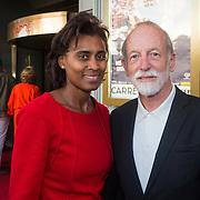 NLD/Amsterdam/20130903 - Inloop premiere Stiletto 2, Laetitie Griffith en partner Jan Naeye