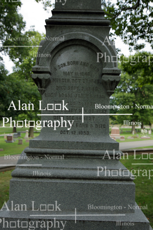 26 August 2017:   A part of the History of McLean County Illinois.<br /> <br /> Tombstones in Evergreen Memorial Cemetery.  Civic leaders, soldiers, and other prominent people are featured.<br /> <br /> David Davis family plot.<br /> <br /> David Davis was a friend of Abraham Lincoln, a United States Supreme Court Justice and a Senator from Illinois.  He was a local to Bloomington.