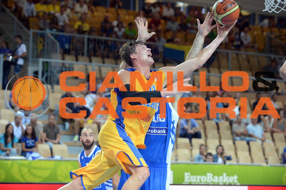 DESCRIZIONE : Capodistria Koper Slovenia Eurobasket Men 2013 Preliminary Round Svezia Grecia Sweden Greece<br /> GIOCATORE : Jonas Jerebko<br /> CATEGORIA : Tiro<br /> SQUADRA : Svezia<br /> EVENTO : Eurobasket Men 2013<br /> GARA : Svezia Grecia Sweden Greece<br /> DATA : 04/09/2013 <br /> SPORT : Pallacanestro&nbsp;<br /> AUTORE : Agenzia Ciamillo-Castoria/Max.Ceretti<br /> Galleria : Eurobasket Men 2013 <br /> Fotonotizia : Capodistria Koper Slovenia Eurobasket Men 2013 Preliminary Round Svezia Grecia Sweden Greece<br /> Predefinita :