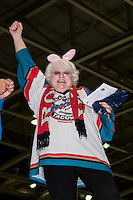 KELOWNA, CANADA - MARCH 25: Kelowna Rockets' fan on March 25, 2016 at Prospera Place in Kelowna, British Columbia, Canada.  (Photo by Marissa Baecker/Shoot the Breeze)  *** Local Caption *** fan