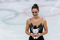 GANGNEUNG, SOUTH KOREA - FEBRUARY 23: Bronze medalist Kaetlyn Osmond of Canada during the venue victory ceremony following the Figure Skating Ladies Free program on day fourteen of the PyeongChang 2018 Winter Olympic Games at Gangneung Ice Arena on February 23, 2018 in Gangneung, South Korea. Photo by Ronald Hoogendoorn / Sportida