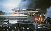 Summerland Fire Disaster, Isle of Man, 2 August 1973, in which over 50 people died. 197308020533SD<br />