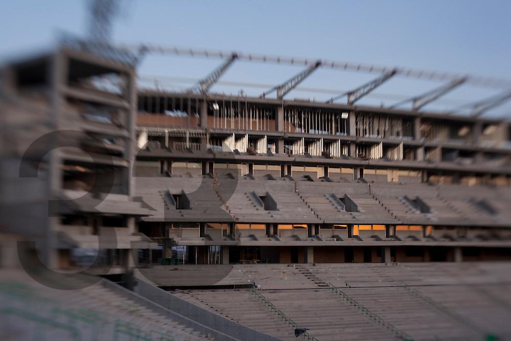 Territorio Santos Modelo. Torreon, Coahuila, Mexico..The construction of the soccer stadium.