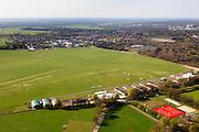 Nederland, Noord-Holland, Hilversum, 01-05-2013; vliegveld Hilversum met de bebouwde kom van Hilversum in de achtergrond. Vliegtuigjes en gliders staan op het veld.<br /> Hilversum Airport with airplanes and gliders. The city of Hilversum in the back.<br /> luchtfoto (toeslag op standard tarieven)<br /> aerial photo (additional fee required)<br /> copyright foto/photo Siebe Swart