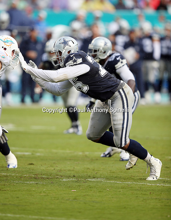 Dallas Cowboys defensive end Greg Hardy (76) rushes during the 2015 week 11 regular season NFL football game against the Miami Dolphins on Sunday, Nov. 22, 2015 in Miami Gardens, Fla. The Cowboys won the game 24-14. (©Paul Anthony Spinelli)
